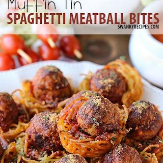 Muffin Tin Spaghetti Meatball Bites
