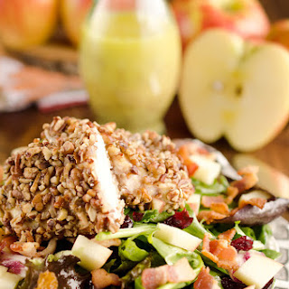 Harvest Salad with Pecan Crusted Chicken