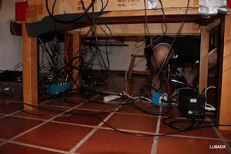 Photo: Los cables crecían dia a dia
