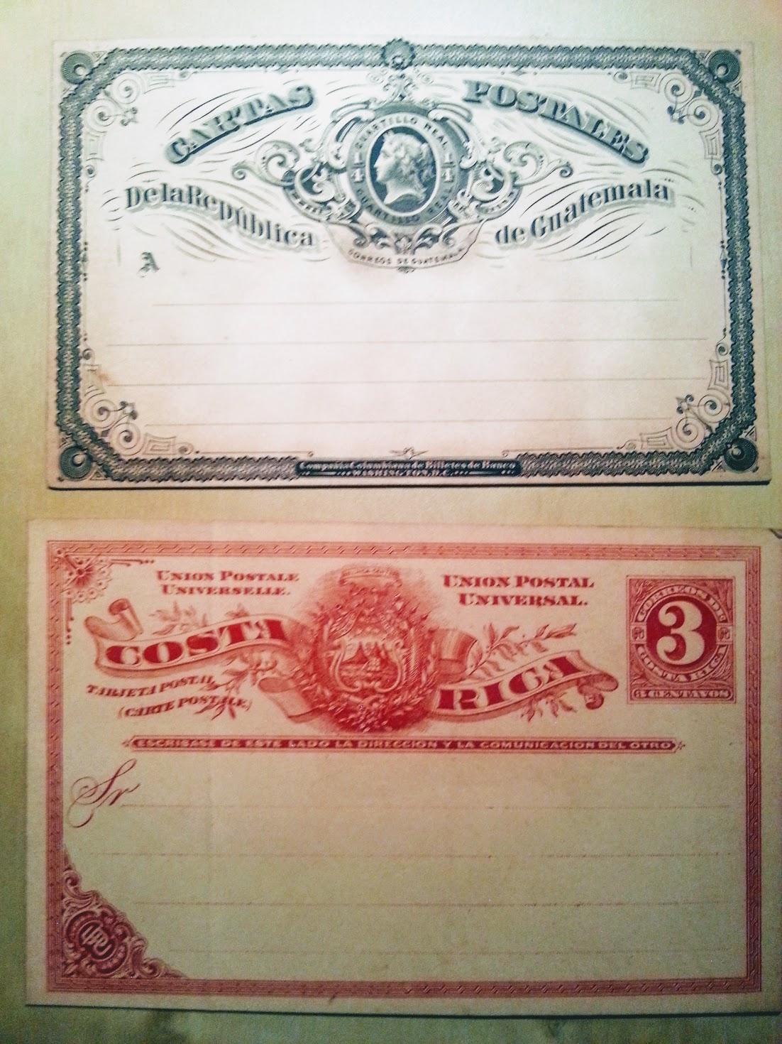 Cartas Postales, Tarjeta Postal