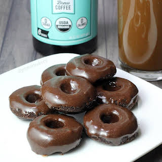 Iced Mocha Protein Donuts.