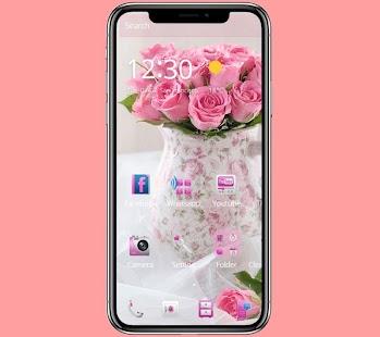 Pink rose love wallpaper - náhled