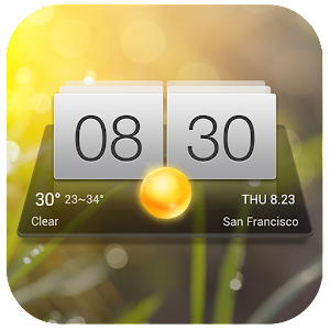 Digital Clock & Weather Widget