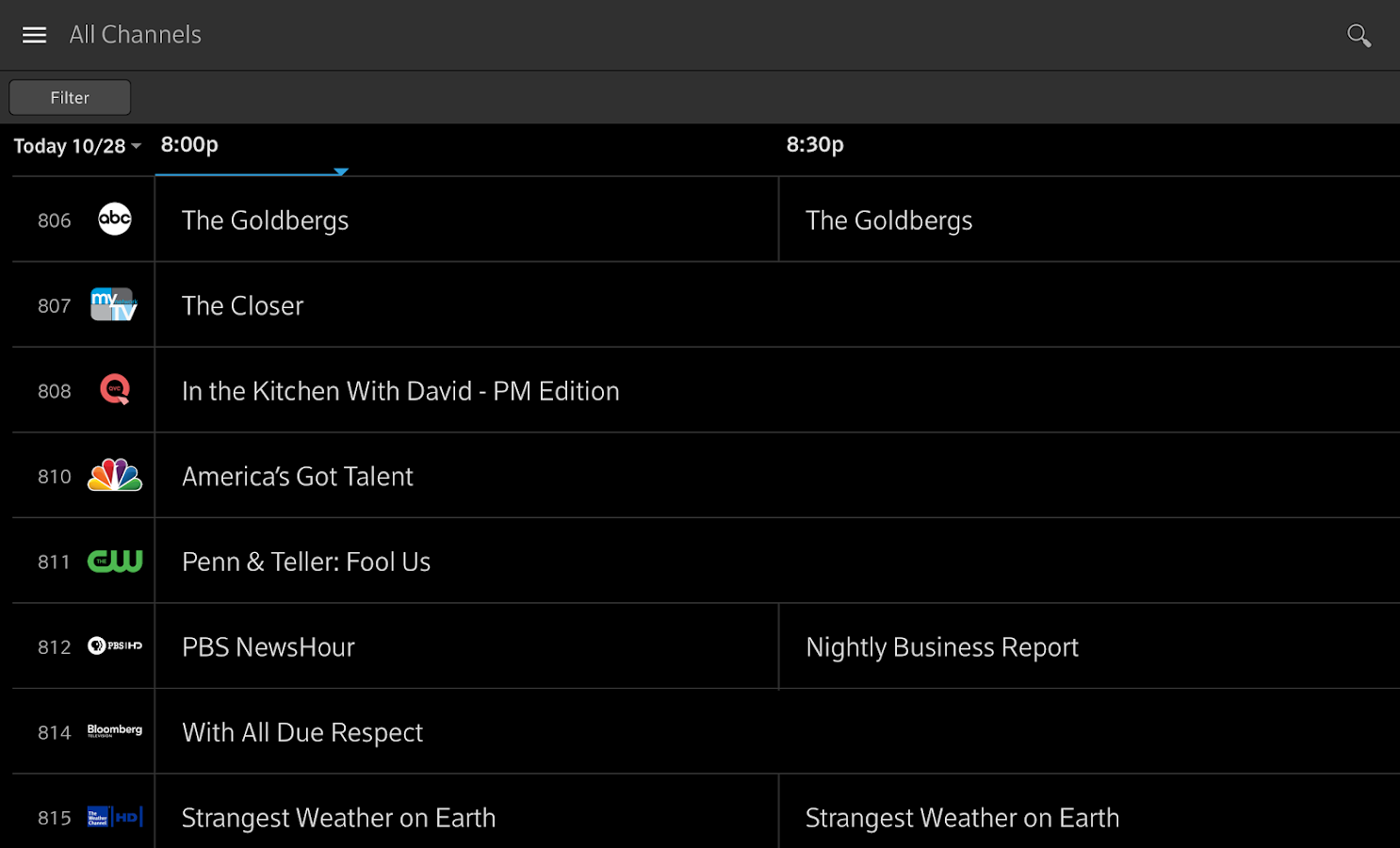 XFINITY Stream – screenshot