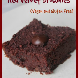 Vegan and Gluten Free Red Velvet Brownies with Beets and Beans