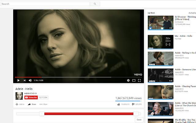 YouTube TimeSlider