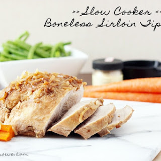 Slow Cooker Boneless Pork Sirloin Tip Roast.