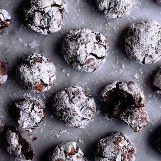Chocolate Fudge Crinkle Cookies.