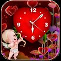 Valentine theme Love Clock icon