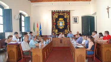 Foto de archivo de un pleno del Ayuntamiento de Níjar.