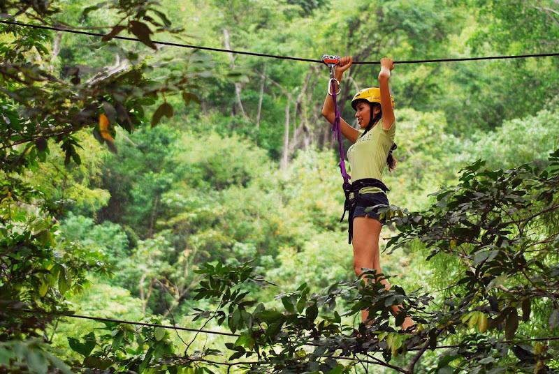 A canopy tour near Cosala, Mexico.
