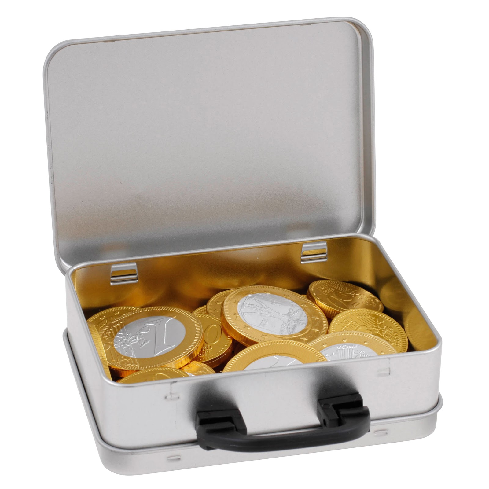 Suitcase Sweet Tins - Chocolate Coins
