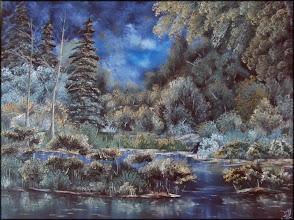 Photo: Элеонора Обухова,Ночь в лесу, 60х80см, холст, масло