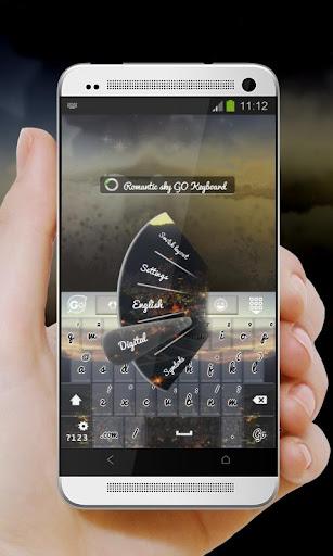 玩免費個人化APP|下載浪漫的天空键盘 app不用錢|硬是要APP