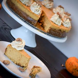Creamy Pumpkin Cheesecake w/ Vanilla whipped cream.