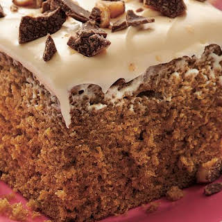 Coffee-Toffee Cake with Caramel Frosting.