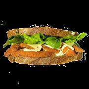 Wasabi Crumbed Chicken Schnitzel Sandwich Combo
