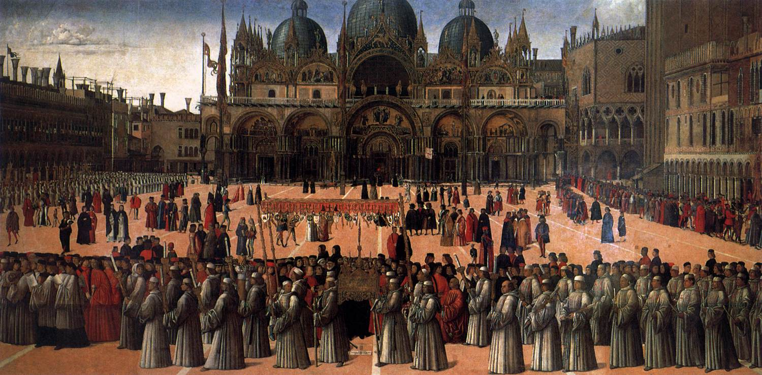 Procession in St. Mark's Square - Gentile Bellini (1496), tempera on canvas