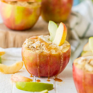 Individual Caramel Cheesecake Apple Dip.