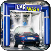 Car Wash Service Station 3D