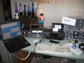Photo: Station #1 , 20 & 40 meters, ICOM 756ProIII, MLA2500, HyGain 204BA