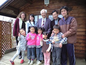 Photo: In Spring 2010, Cindy Charlton (far left) and Rev. Osamu Nomura (back, center) of Fukushima Izumi Lutheran Church join with friends at a prayer house in a neighboring town.