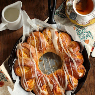 Gooey Apricot Orange Twisted Coffee Cake