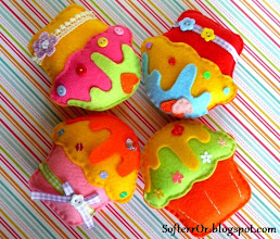 Photo: Τα Χαρούμενα Cupcakes! Διαστάσεις 9,5 Χ 9,5 εκατοστά.