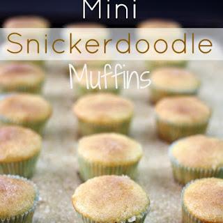Mini Snickerdoodle Muffins.