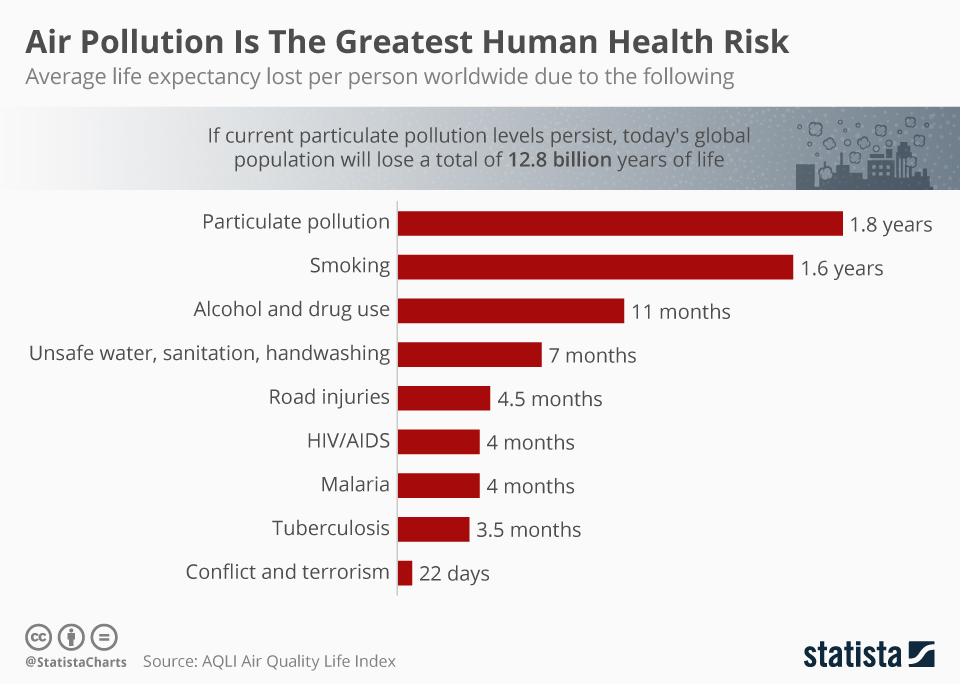 Air Pollution Is The Greatest Human Health Risk