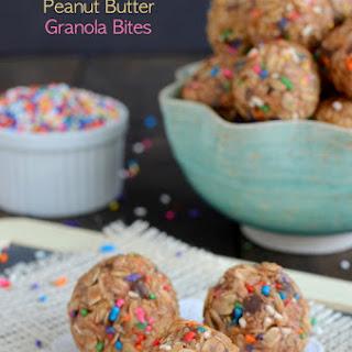 Skinny Peanut Butter Granola Bites