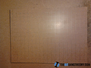 Photo: Drawing a grid in the top piece