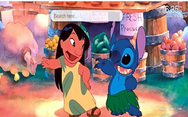 Lilo And Stitch Disney HD Wallpaper New Tab