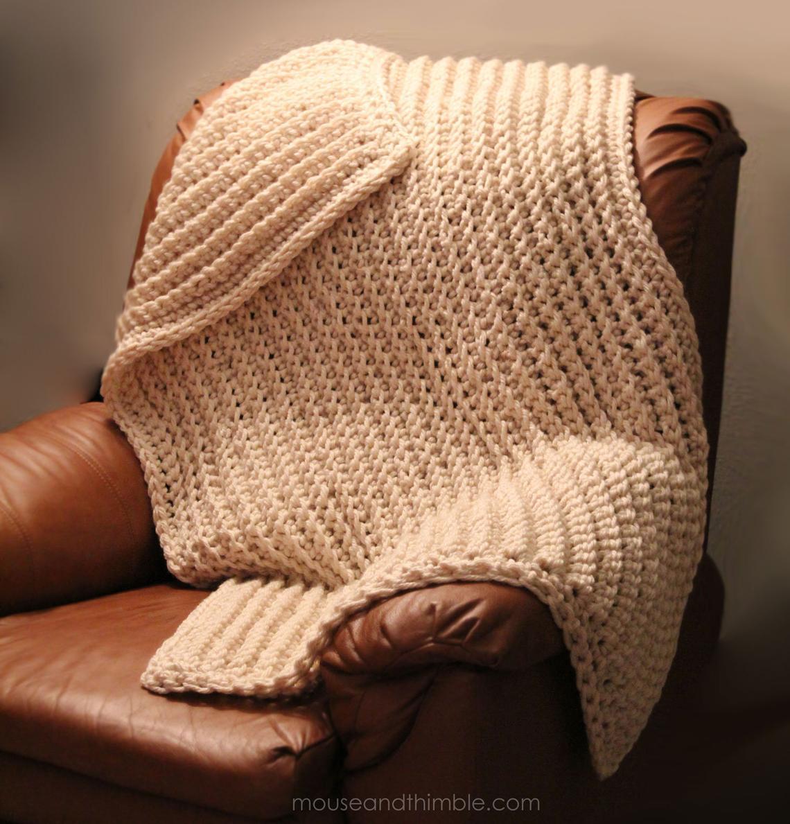 furrow blanket beginner crochet pattern
