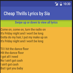 song cheap thrills download