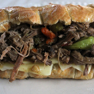 Crockpot Italian Pulled Beef Sandwiches