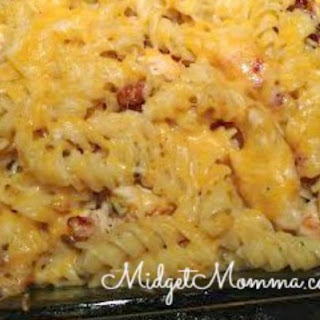 Cheesy Chicken Bacon Ranch Pasta Casserole