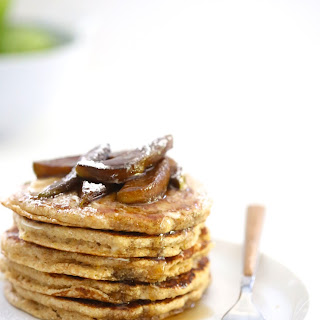 Whole Wheat Pancakes with Balsamic Caramel Apples