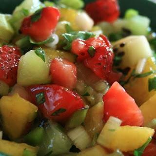 Spicy Strawberry Kiwi Peach Salsa