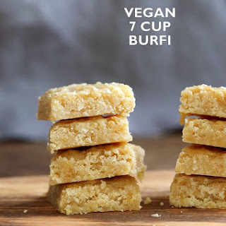 Vegan 7 Cup Burfi - Chickpea flour & Coconut Fudge Bars.
