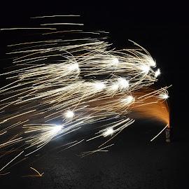 by Ada Irizarry-Montalvo - Abstract Fire & Fireworks