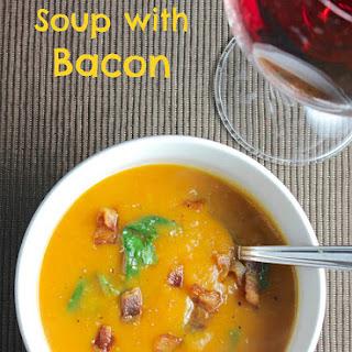 Sweet Potato Soup with Bacon.