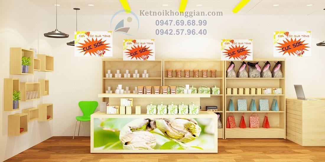 thiết kế nội thất gian hàng siêu thị