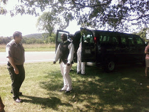 Photo: Park ranger transported us in a park van