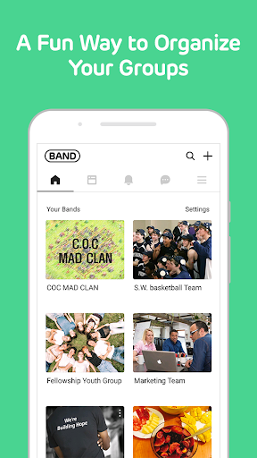 BAND - Organize your groups screenshot
