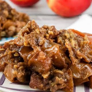 Healthy Slow Cooker Apple Crisp.