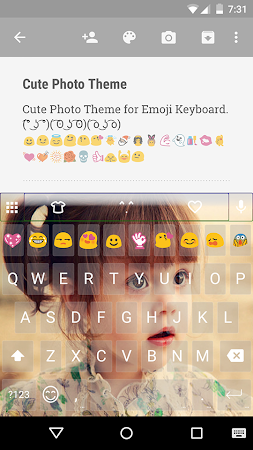 Cute Photo Emoji Keyboard Free 3.0.1 screenshot 315751