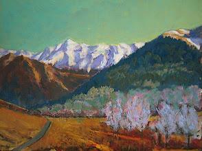 Photo: Pirineo francés (bajando el Mariblanche), 38x50 cm, acrílico s/tabla, 14-3-06, 320€