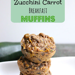 Vegan Zucchini Carrot Breakfast Muffins with No Added Sugar