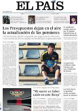 Photo: Los Presupuestos dejan en el aire la actualización de las pensiones, el socialismo catalán apuesta por la España federal frente al independentismo y entrevista con Leo Messi, en nuestra portada del lunes 1 de octubre http://srv00.epimg.net/pdf/elpais/1aPagina/2012/10/ep-20121001.pdf